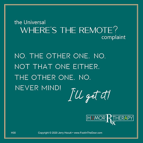 H30 Where's the Remote?