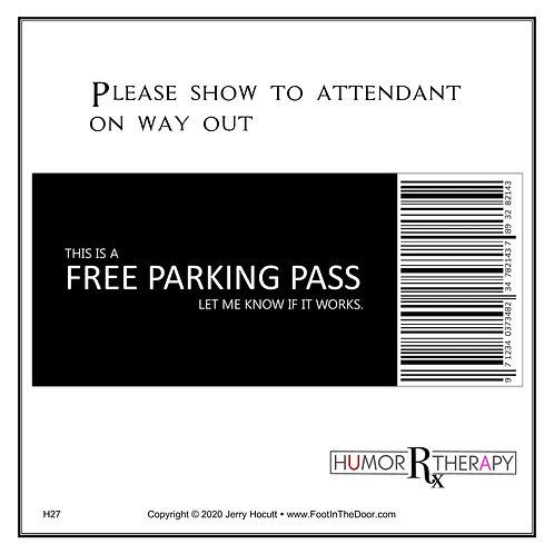 H27 Free Parking Pass