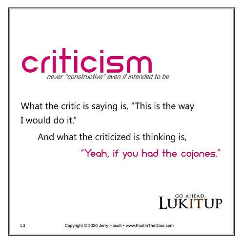 L3 Criticism