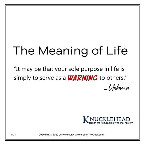 K21 Meaning of Life