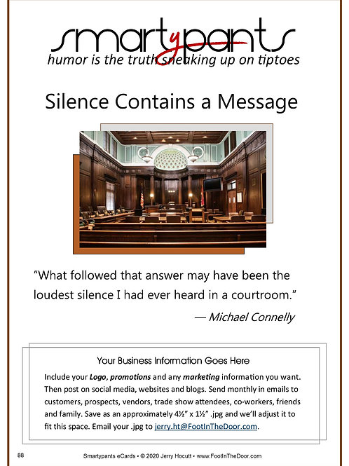 88 Silence Contains a Message