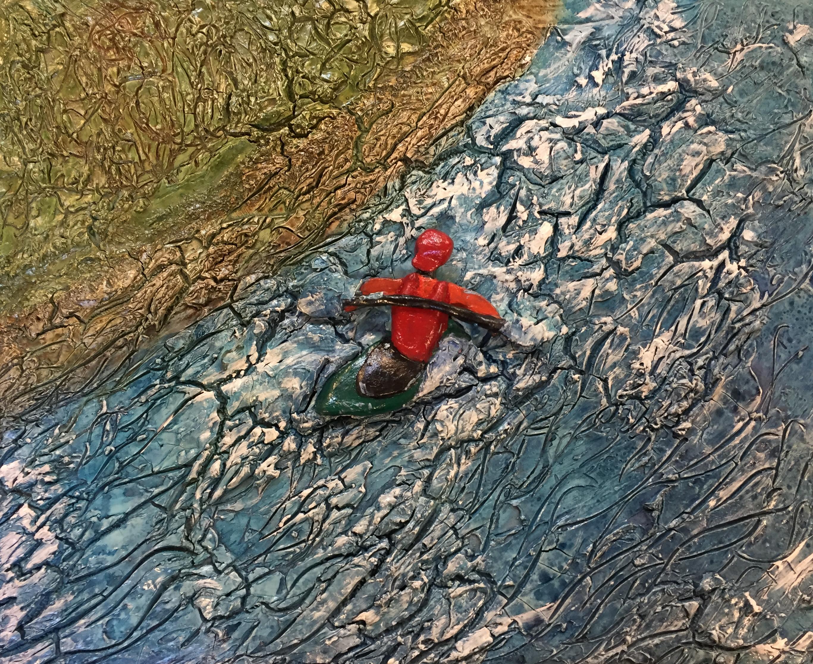 Mix media kayak