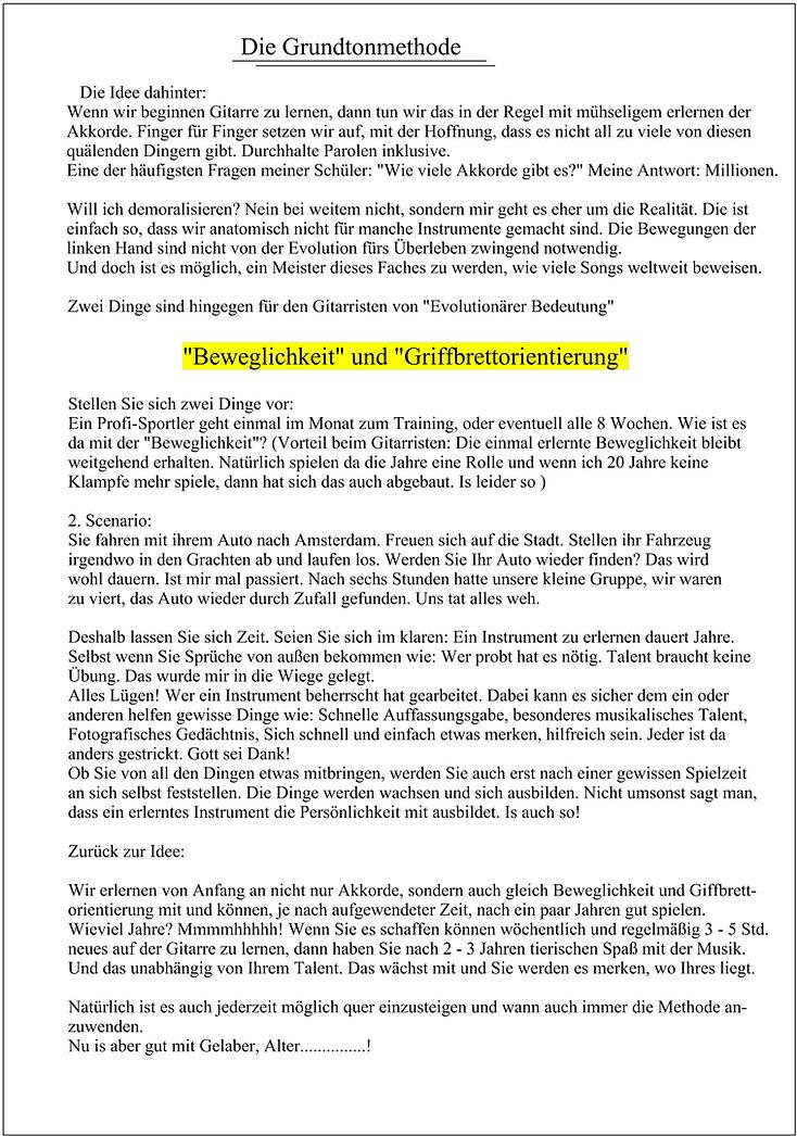 Peter Jäger Bänd - Grundtonmethode, Beweglichket, Griffbrettorientierung, Gitarrenuntericht
