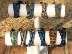 Rae Design Double Wrap Leather Bracelets