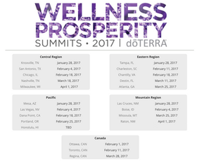 doTERRA Summits - 2017 dates are posted!