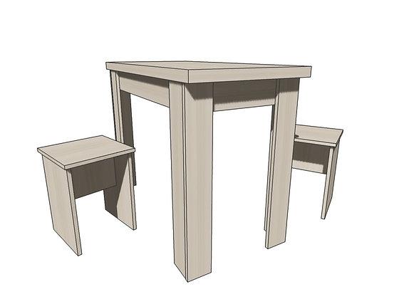 Стол+ 2 табурета