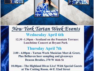 The Highland Divas NY Tartan Week Schedule of Events