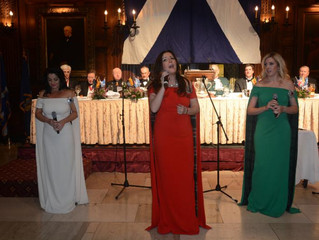 The Highland Divas perform for St Andrews Society NYC 259th Banquet.