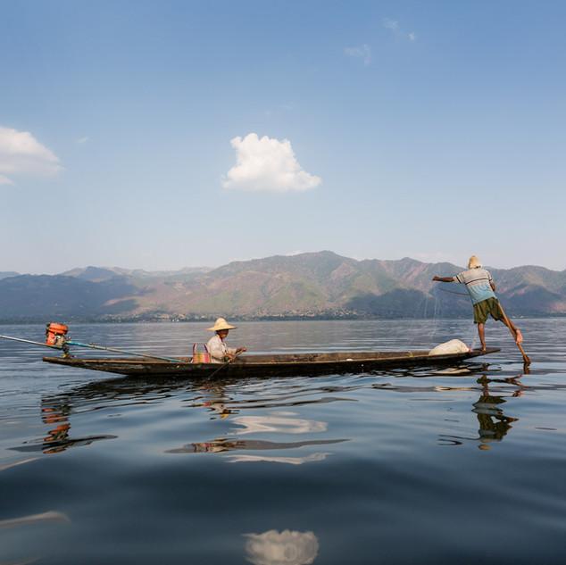 Fishing on Lake Inle
