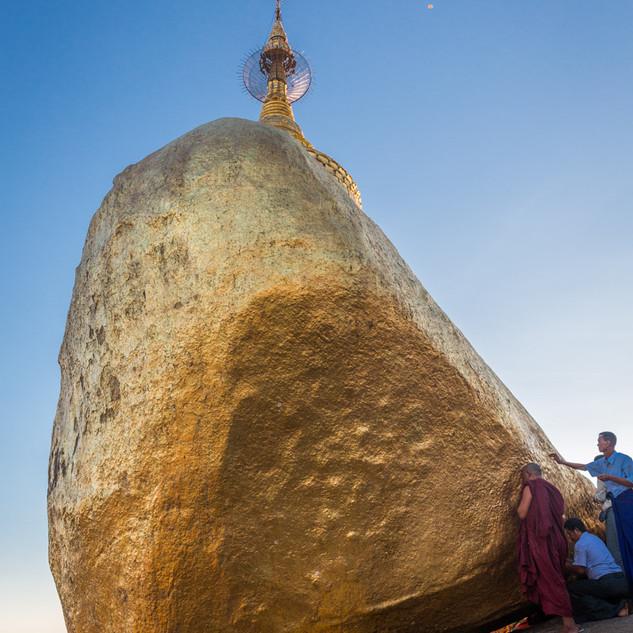 The Golden Rock at Kyaiktiyo