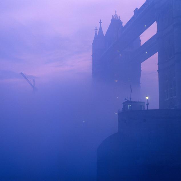 Tower Bridge Shrouded in Fog, 1987