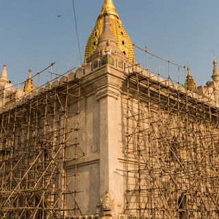Scaffolding at Ananda Temple