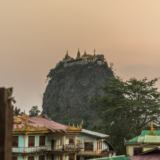 Mount Popa at sunset