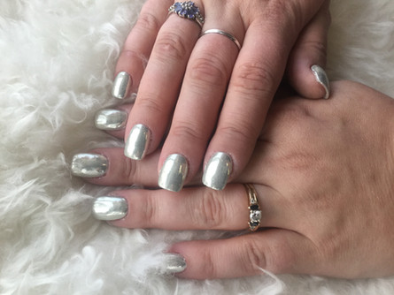 Shangri La Nails Chrome polish