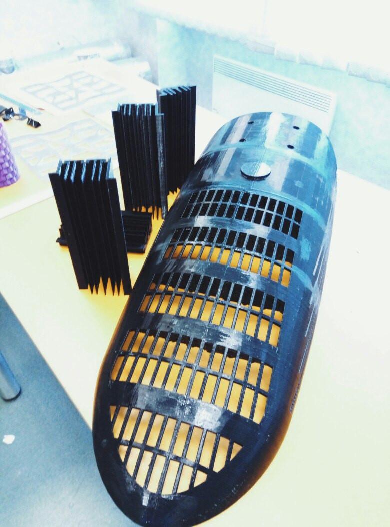 Прототип радиатора светодиодного светильника