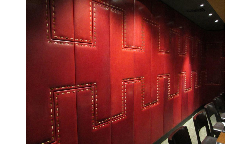 Red Leather Wall