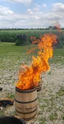 charring the barrels