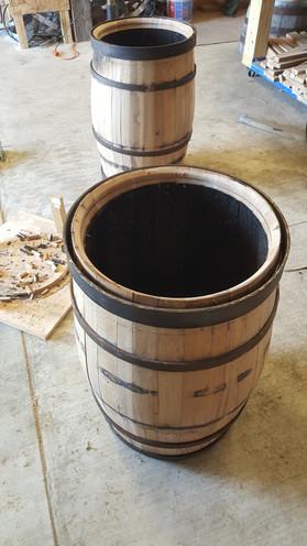 crozed barrels ready for heading