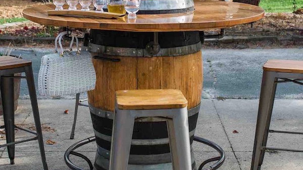 Heated Barrel Table