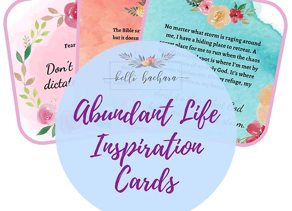 Abundant Life Inspiration Cards