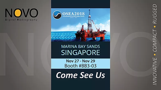 Welcoming you all at NOVO's booth - OSEA 2018