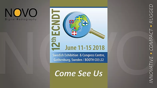 Don't forget to stop by! Booth #C03:22 ECNDT 2018