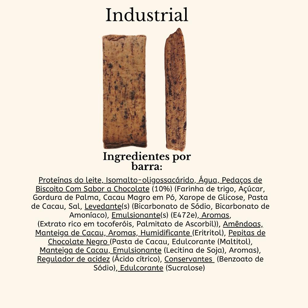 ingredientes de barras proteicas processadas