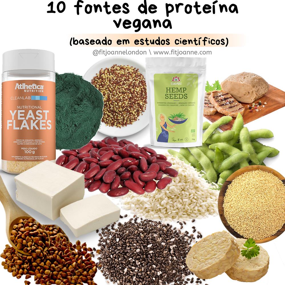 10 fontes de proteína para veganos e vegetarianos
