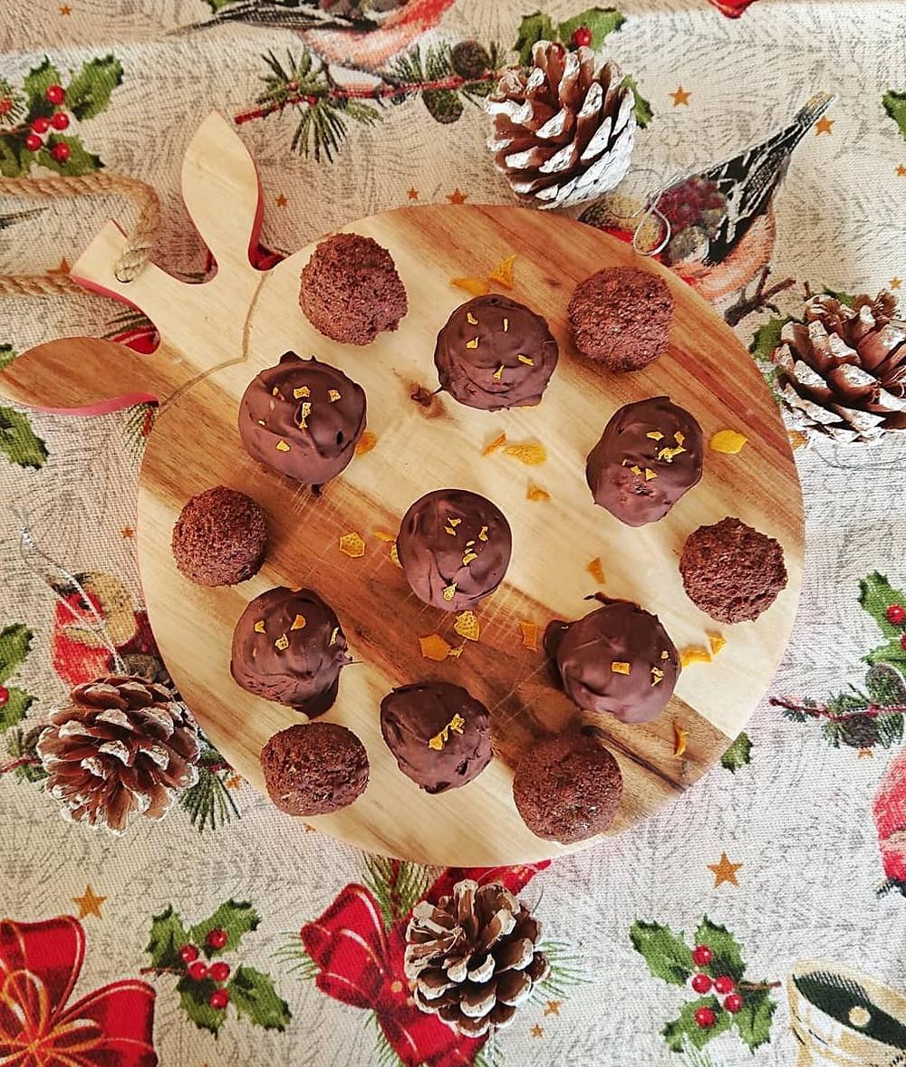 trufas de chocolate saudáveis