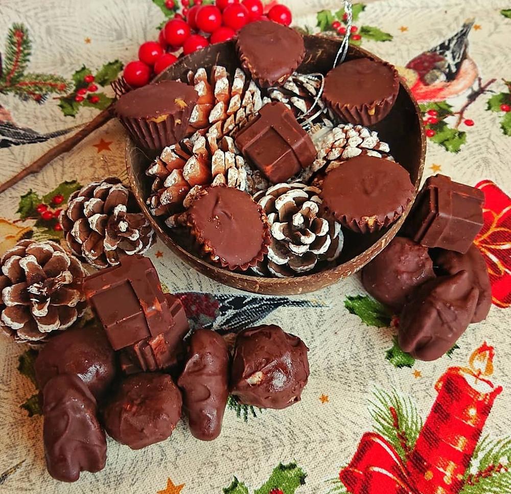 receita de chocolates caseiros baixos em calorias
