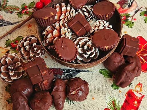 Chocolates caseiros (e menos calóricos)