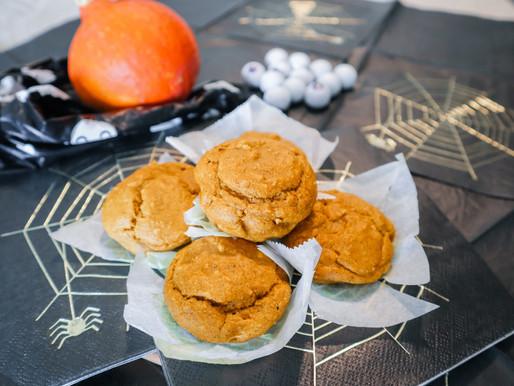 Muffins saudáveis de abóbora