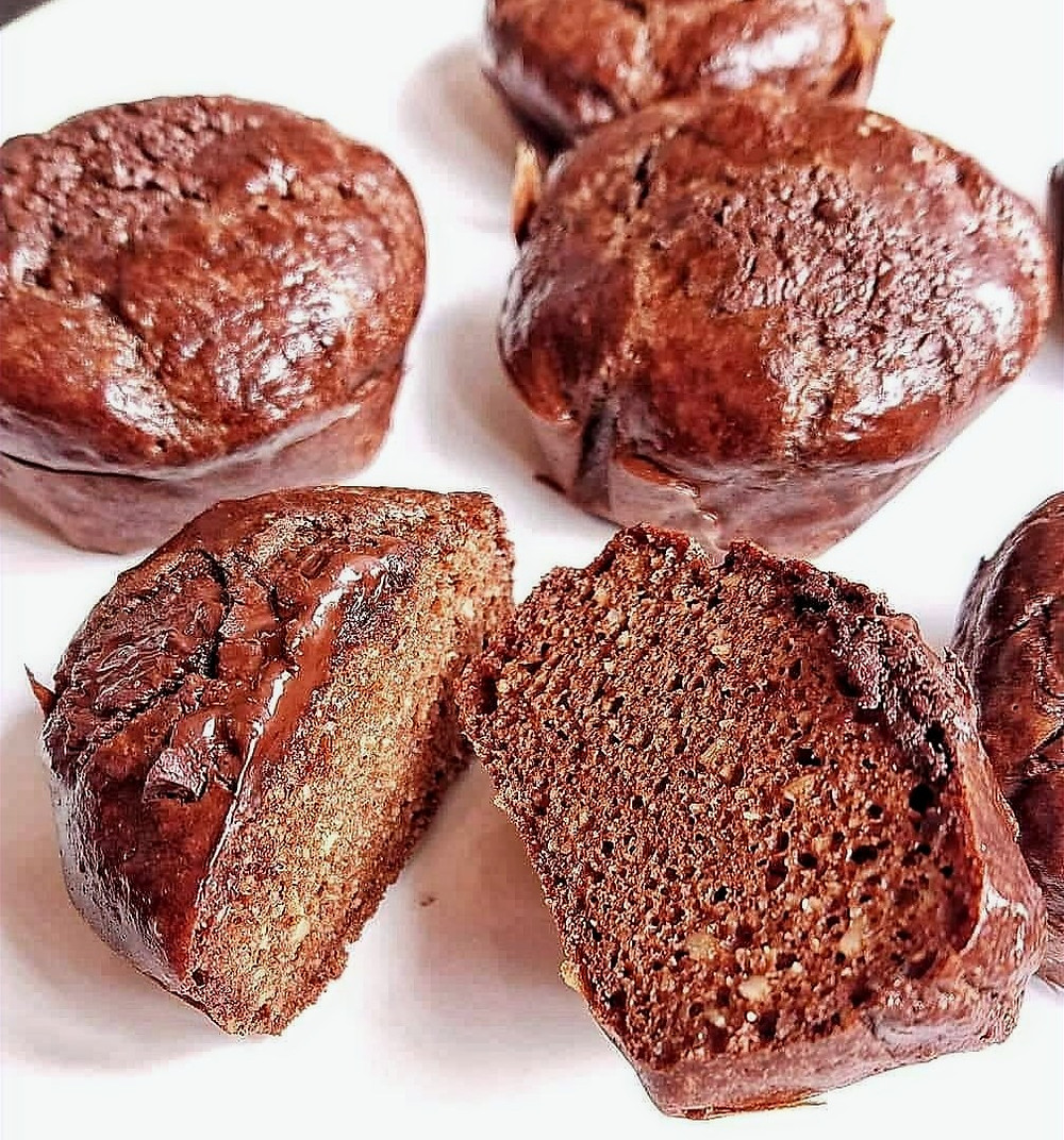 muffins de chocolate low carb