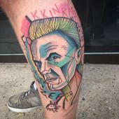 ninja die antwoord abstract tattoo