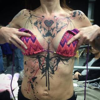 abstract woman torso