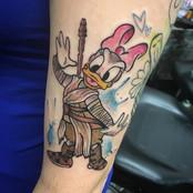 daisy duck star wars rey tattoo disney