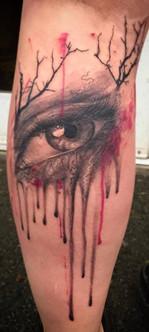 abstract eye tattoo