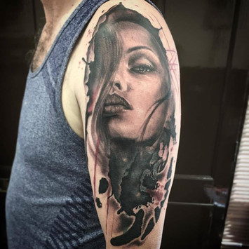 abstract woman tattoo