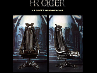H.R. Giger Harkonnen Chair on Display at NY Empire State Tattoo Expo