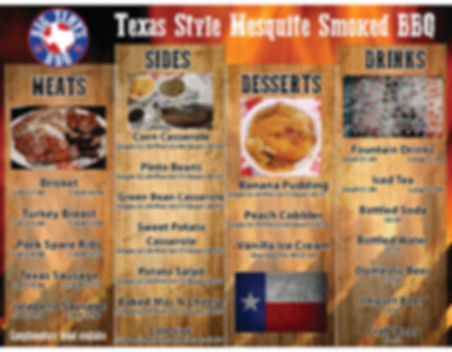 Big Tinys BBQ Menu