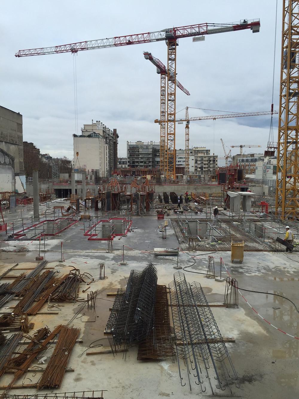 Maître D Oeuvre Orléans visite du chantier porte d'orléans par eiffage