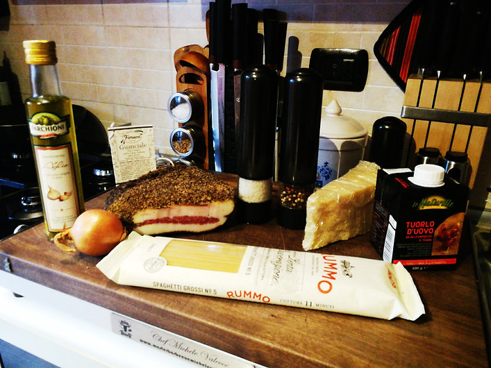 Ingredienti carbonara chef michele valecce
