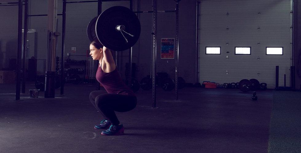 Teresa lifting weight