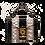 Thumbnail: O-Clock Mini – Beige/Black Cylinder Snake Leather