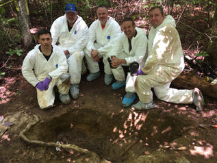 Body farm with National Forensic Academy, May 2018