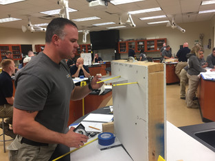 Balistics investigation training at the National Forensics Academy, May 2018
