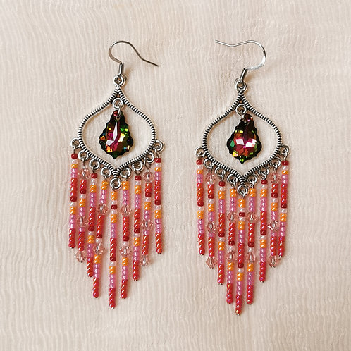 Red Lamp Dangles by RachelCrafts