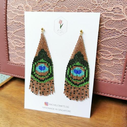 Peacock Fringe Earrings