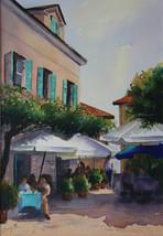 Street Cafe, Isola Pescatori, Watercolour, 50 x 64cm