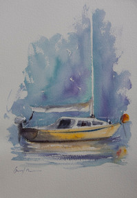 The Yellow Hull, watercolour, A3